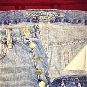 American Eagle Outfitters Shorts - American Eagle Outfitters Distressed Jean Shorts